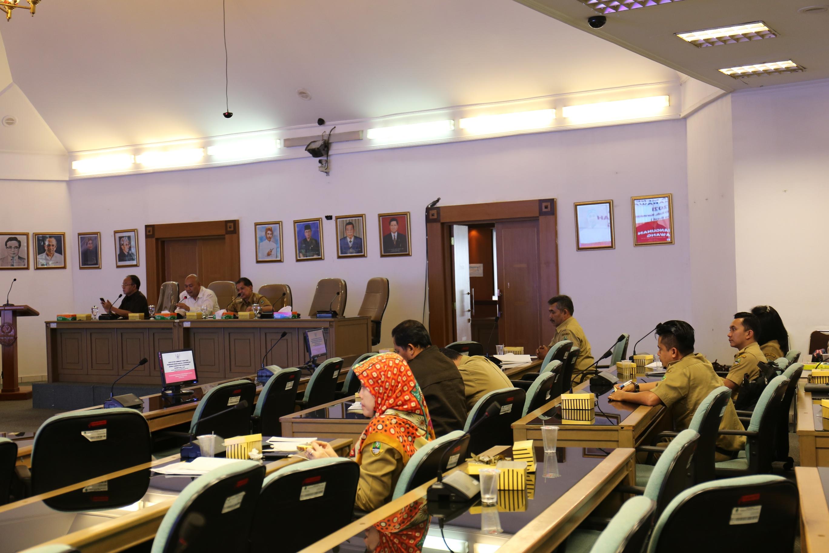 Pembahasan Konsultasi RPJMD Kabupaten Karawang Tahun 2016-2021